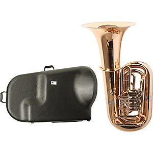 Miraphone-186-4U-Series-4-Valve-Gold-Brass-BBb-Tuba-with-Hard-Case-Standard