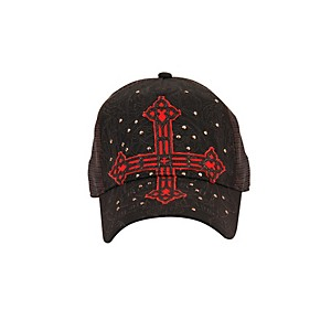 Fender-Cross-Applique-Trucker-Hat-Black