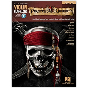 Hal-Leonard-Pirates-Of-The-Caribbean---Violin-Play-Along-Volume-23-Book-CD-Standard