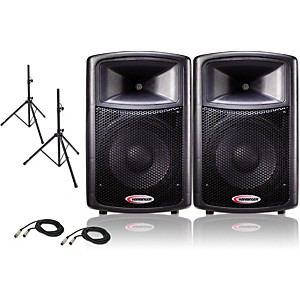 Harbinger-12--Powered-PA-Speaker-Pair-with-Stands-Standard