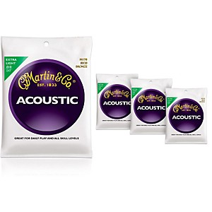 Martin-M170-80-20-Bronze-Round-Wound-Extra-Light-Acoustic-Guitar-Strings---4-Pack-Standard