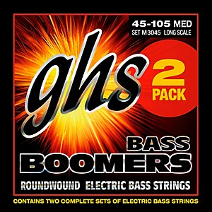 GHS-Bass-Boomers-Standard-Long-Scale-Roundwound-Medium-Light-Electric-Bass-Strings-2-Pack-2-PACK-BASS-BOOMERS-MED-LIGHT