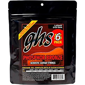 GHS-S325-Phosphor-Bronze-Light-Acoustic-Guitar-Strings-5-Pack-5-PACK-PHOS-BRONZE-11-S