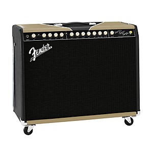 Fender-Super-Sonic-Twin-Black-Gold-100W-2x12-Tube-Guitar-Combo-Amp-2-Color-Gold-Black-Tolex-Black-Grille