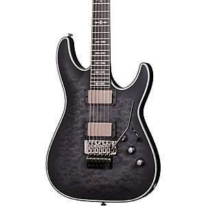 Schecter-Guitar-Research-Hellraiser-C-1-FR-Extreme-Electric-Guitar-See-Thru-Black-Satin-Ebony-Fingerboard