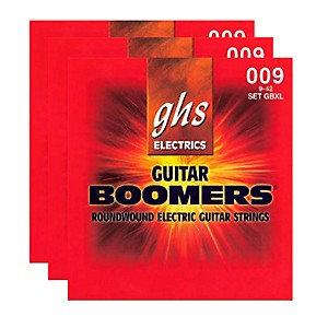GHS-GBXL-BOOMER-3-PACK-ELECTRIC-GUITAR-STRINGS-Black