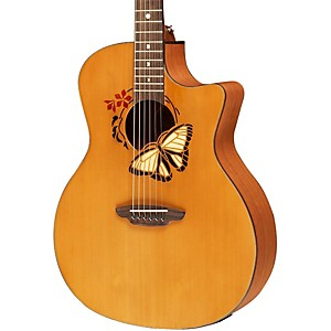 Luna-Guitars-Oracle-Series-Acoustic-Electric-Guitar-Natural-Butterfly-Design