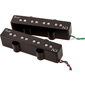 Fender-N3-Noiseless-Jazz-Bass-Pickups-Set-of-2-Black-Covers