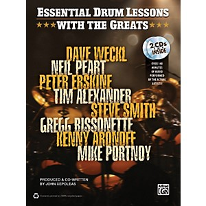 Alfred-Essential-Drum-Lessons-with-the-Greats-Book---CD-Standard