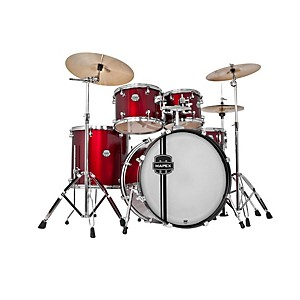 Mapex-Voyager-SRO-Fully-Loaded-5-Piece-Drum-Kit-Dark-Red-w-Chrome-Hardware