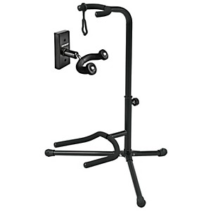 FretRest-by-Proline-GH1-Guitar-Wall-Hanger-and-GS5-Guitar-Stand-Package-Black