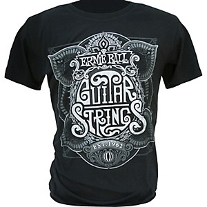 Ernie-Ball-King-of-Strings-T-Shirt-Black-X-Large