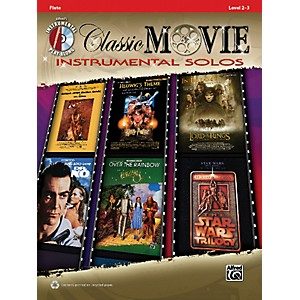 Alfred-Classic-Movie-Instrumental-Solos-Flute-Play-Along-Book-CD-Standard