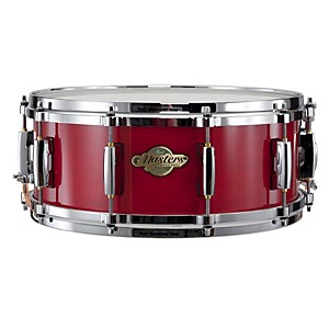 Pearl-Masters-MCX-Series-Snare-Drum-Sequoia-Red-with-Chrome-Hardware-14x5-5