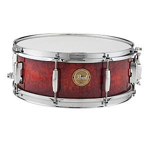 Pearl-Limited-Edition-Artisan-II-Lacquer-Poplar-Birch-Snare-Drum-Burnt-Ember-with-Chrome-Hardware-14x5-5