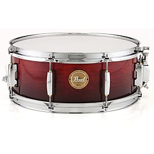 Pearl-Limited-Edition-Artisan-II-Lacquer-Poplar-African-Mahogany-Snare-Drum-Venetian-Red-with-Chrome-Hardware-14x5-5