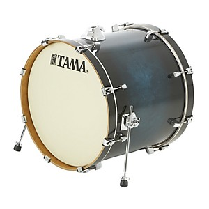 Tama-Silverstar-Custom-Bass-Drum-Transparent-Blue-Burst-18x22