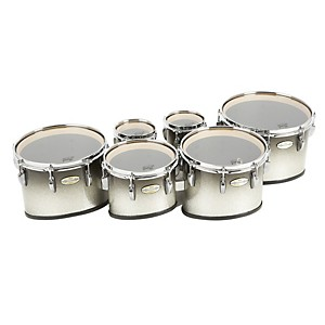 Pearl-Maple-CarbonCore-Marching-Tenors-Sonic-Cut--Drums---Spacers-only--Black-Silver-Burst-6-6-10-12-13-14