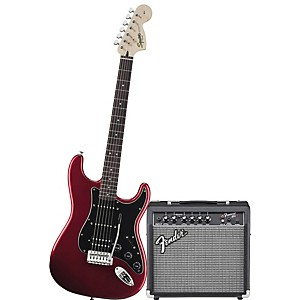 squier-Affinity-HSS-Stratocaster-Electric-Guitar-Pack-w--15G-Amplifier-Candy-Apple-Red