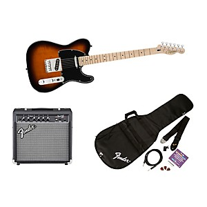 squier-Affinity-Telecaster-Electric-Guitar-Pack-w--15G-Amplifier-Brown-Sunburst