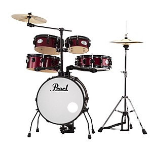 Pearl-Rhythm-Traveler-Drum-Set-with-Cymbals---Hardware-Pure-White