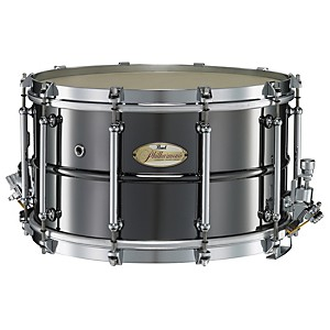 Pearl-Philharmonic-Brass-Snare-Drum-Black-Nickel-14x8