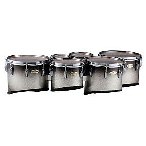 Pearl-Maple-Carbon-Core-Marching-Tenors-Shallow-Cut-Sextet-Set--Drums---Spacers-Only--Black-Silver-Burst-6-8-10-12-13-14