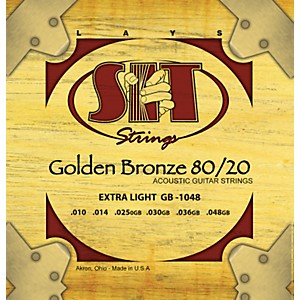 SIT-Strings-GB1048-Extra-Light-80-20-Golden-Bronze-Acoustic-Guitar-Strings-Standard