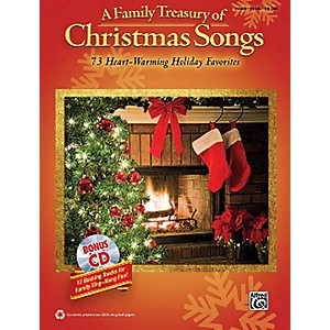Hal-Leonard-A-Family-Treasury-Of-Christmas-Songs-Piano-Vocal-Guitar-With-Bonus-CD-Standard