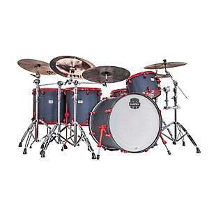 Mapex-MyDentity-5-Piece-Shell-Pack-Satin-Black-Spider-with-Red-Hardware