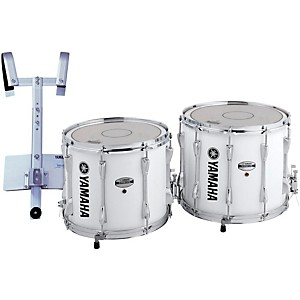 YAMAHA-Power-Lite-Marching-Snare-Drum-with-Carrier-White-Wrap-13-Inch