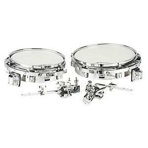 Taye-Drums-Wood-Timbale-Set-with-Mount-Chrome-Wrap-10x3---12x3