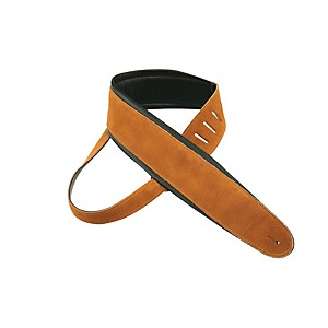 Perri-s-2-5--Super-Soft-Suede-Guitar-Strap-with-3-5--Italian-Leather-Padding-Tobacco-Black