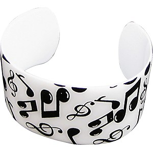 AIM-Black-White-Musical-Notes-Cuff-Bracelet-Standard
