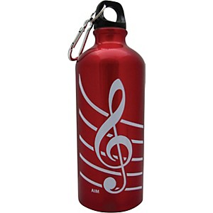 AIM-Treble-Clef-Aluminum-Bottle--Red--Standard