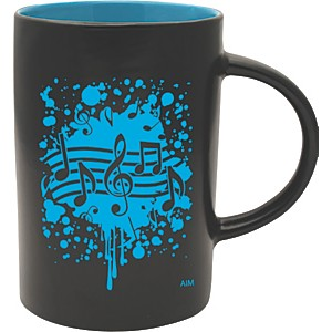 AIM-Musical-Note-Burst-Black-Blue-Café-Mug-Standard