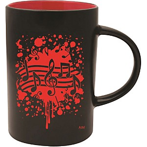 AIM-Musical-Note-Burst-Black-Red-Café-Mug-Standard