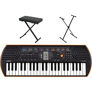 Casio-SA-76-Keyboard-with-Stand-and-Bench-Orange