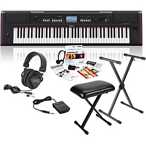 Yamaha-NPV80-76-Key-Piaggero-Portable-Digital-Piano-with-Yamaha-C2-Survival-Kit--Stand--Bench----Headphones-Standard