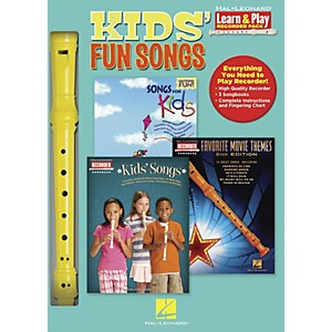 Hal-Leonard-Kids--Fun-Songs-Learn---Play-3-Book---Recorder-Pack-Standard