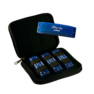 Hohner-BIP-Blue-Ice-Harmonica--3-Pack-with-Zippered-Carrying-Case-Standard