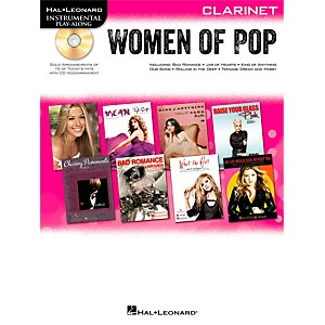 Hal-Leonard-Women-Of-Pop-For-Clarinet---Instrumental-Play-Along-Book-CD-Standard