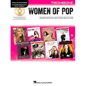 Hal-Leonard-Women-Of-Pop-For-Trombone---Instrumental-Play-Along-Book-CD-Standard