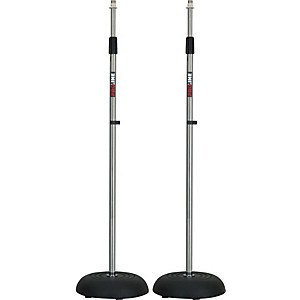 ProLine-MS235CR-Round-Base-Mic-Stand-2-Pack-Chrome