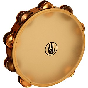 Black-Swamp-Percussion-SoundArt-Series-10-inch-Tambourine-Double-Row-with-Remo-Head-Phosphor-Bronze-TD1S