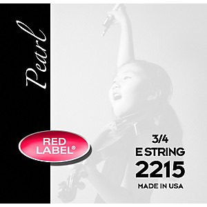 Super-Sensitive-Red-Label-Pearl-Nylon-Core-Violin-E-String-3-4-Size
