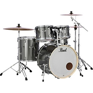 Pearl-Export-Standard-5-Piece-Drum-Set-with-Hardware-Smokey-Chrome