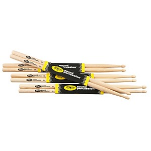 Sound-Percussion-Hickory-Drumsticks-4-Pack-5A-Wood