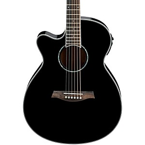 Ibanez-AEG10LII-Lefty-Cutaway-Acoustic-Electric-Guitar-Black