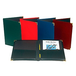 Marlo-Plastics-Band-and-Orchestra-Rehearsal-Folder-12--x-14--with-Brass-Corners-and-Pencil-Loop-Black